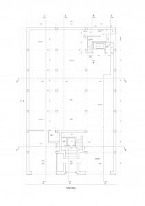 Nivel 0 - Planta. Superficie paredes: 74x4= 300 m2