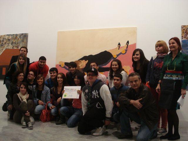 Alumnos del IES Arguineguín ganadores del Premio de Pintura DEAC 2012