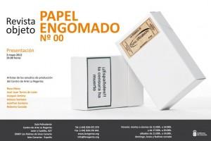 presentación papel engomado revista objeto espacio de produccion artes visuales centro arte la regenta las palmas gran canaria