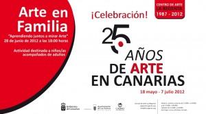 Arte en Familia '25 años de arte en Canarias' visita guiada para niños acompañados por adultos centro de arte la regenta las palmas de gran canaria