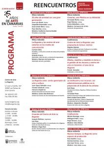 'Reencuentros' ciclo de conferencias y mesas redondas 25 aniversario del Centro de Arte La Regenta Las Palmas de Gran Canaria