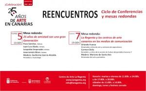 REENCUENTROS ciclo de conferencias y mesas redondas Centro de Arte La Regenta 25 aniversario Las Palmas de Gran Canaria
