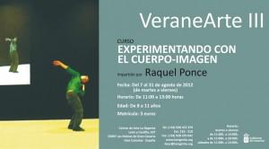 VeraneArte III Curso Experimentando con el cuerpo-imagen taller de verano para niños impartido por Raquel Ponce Centro de Arte La Regenta Las Palmas de Gran Canaria