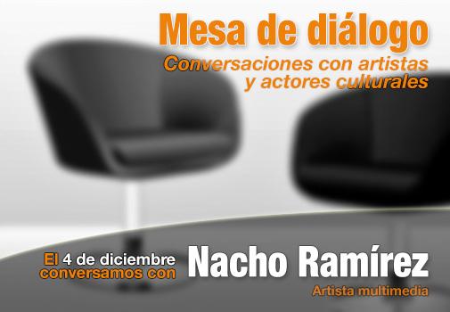 El artista Nacho Ramírez se sienta en la Mesa de Diálogo de La Regenta