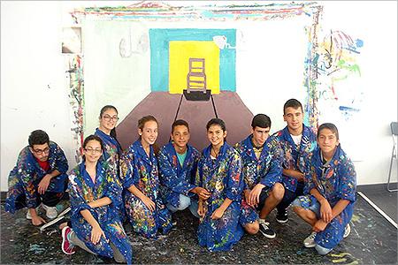 Alumnos del IES Jinámar, ganadores del Premio de Pintura DEAC La Regenta 2015