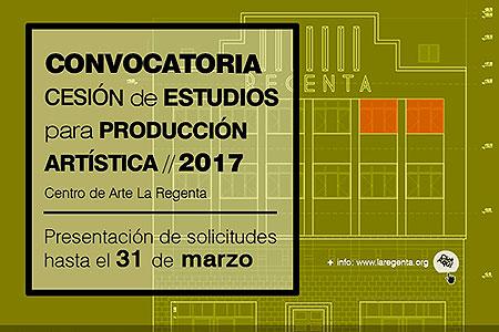 Selección abierta para acceso a un espacio de producción artística en 2017