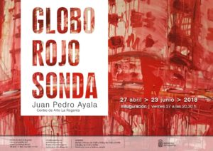 Globo Sonda Rojo exposición Juan Pedro Ayala